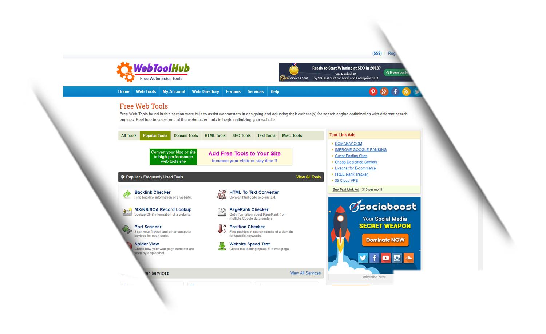 WebToolHub Free Webmaster Tools